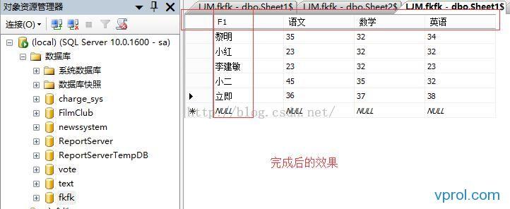 巧借Excel制作数据库中的二维表