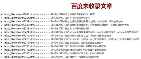 wordpress自动提取未被百度收录文章列表