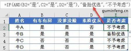 Excel函数应用:AND函数用于符合多个条件的判断