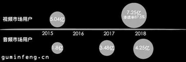 中国视频市场及音频市场用户数量